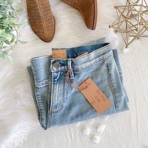 "FP Driftwood ""Charlee"" Wide Leg Jeans"